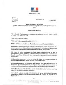 ARRETE LIMITATION PROVISOIRE USAGE DE L'EAU